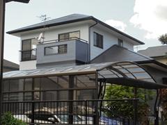 福喜 外壁塗装人気のフッ素4FⅡでメリハリのあるツートンカラーに!