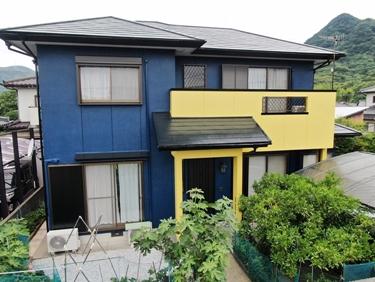 福喜 外壁塗装ブルー×イエローの2色が鮮やか!高耐候性塗料で美しさが長持ちします☆