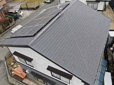 福喜 外壁塗装ライトグレー×グレーのスタイリッシュな外壁と蘇った屋根塗装リフォーム