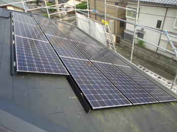 屋根葺き替え時に太陽光パネル設置!!